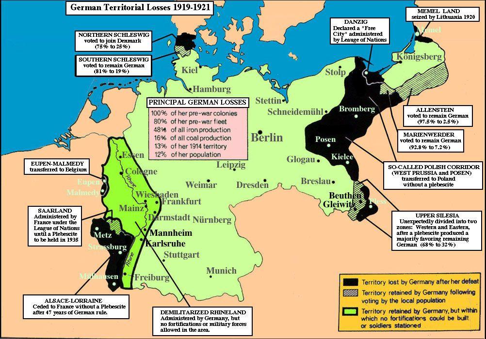 mapa-german territorial losses